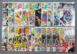 Group of 20 Marvel Comics West Coast Avengers comic