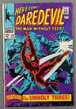 Marvel Comics Daredevil No. 39 comic book