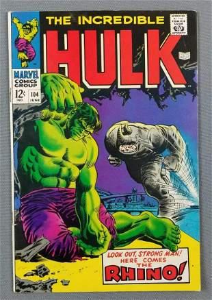 Marvel Comics The Incredible Hulk No. 104 comic book