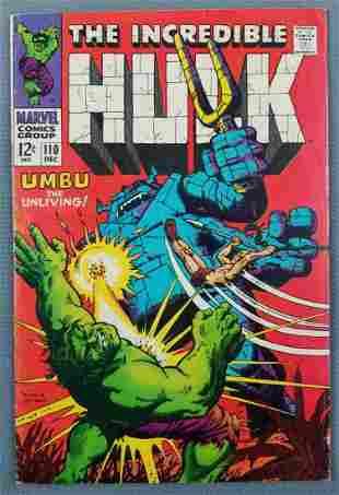 Marvel Comics The Incredible Hulk No. 110 comic book