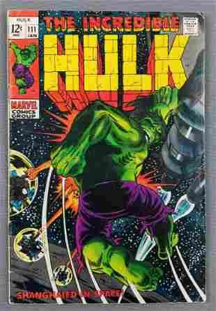 Marvel Comics The Incredible Hulk No. 111 comic book