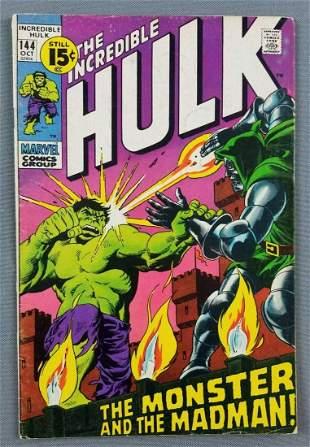 Marvel Comics The Incredible Hulk No. 144 comic book