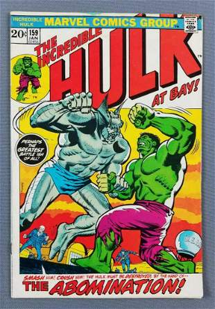 Marvel Comics The Incredible Hulk No. 159 comic book