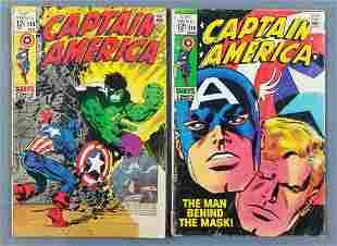 Group of 2 Marvel Comics Captain America comic books