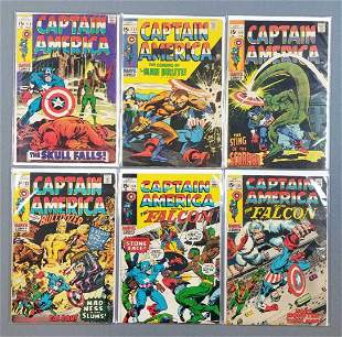 Group of 6 Marvel Comics Captain America and the falcon
