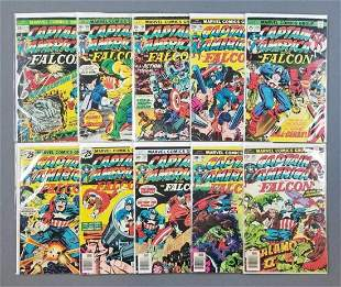 Group of 10 Marvel Comics Captain America and The