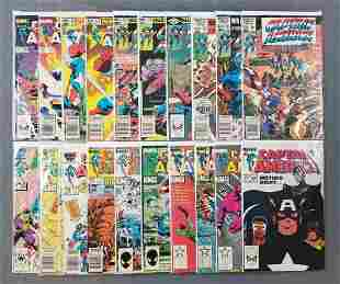 Group of 20 Marvel Comics Captain America comic books