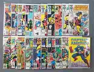Group of 20 Marvel Comics Captain America comic books