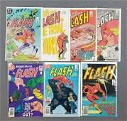 Group of 7 DC Comics The Flash comic books