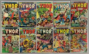 Group of 10 Marvel Comics The Mighty Thor Comic Books