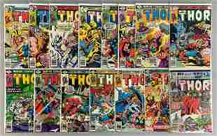 Group of 15 Marvel Comics The Mighty Thor Comic Books