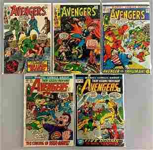 Group of 5 Marvel Comics The Avengers Comic Books