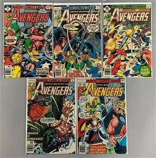 Group of 5 Marvel Comics The Avengers Comic Books