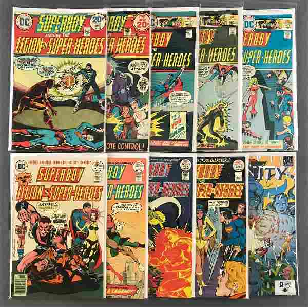 Group of 10 DC Comics Comic Books-Superboy starring The