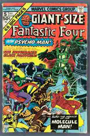 Marvel Comics Giant Size Fantastic Four No. 5 Comic