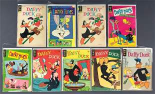 Group of 9 Gold Key Daffy Duck and more comic books