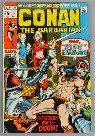 Marvel Comics Conan The Barbarian No. 2 Comic Book
