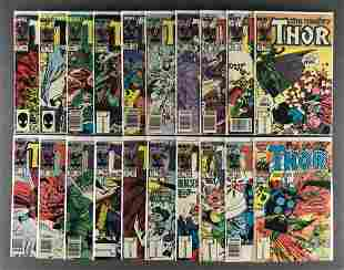 Group of 20 Marvel Comics The Mighty Thor comic books