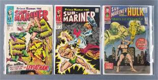 Group of 3 Marvel Comics Sub-Mariner comic books