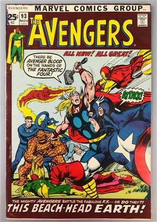 Marvel Comics Avengers no. 93 comic book