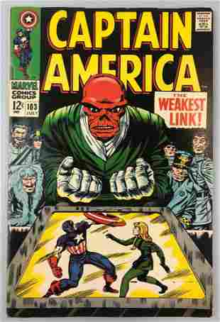 Marvel Comics Captain America no. 103 comic book
