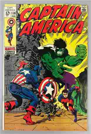 Marvel Comics Captain America no.  110 comic book