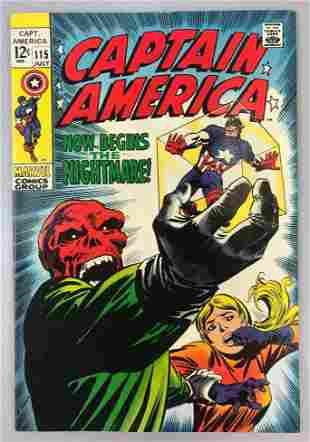Marvel Comics Captain America no. 115 comic book