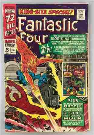 Marvel Comics Fantastic Four Annual no. 4 comic book