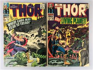 Marvel Comics Thor no. 132 and 133 comic books
