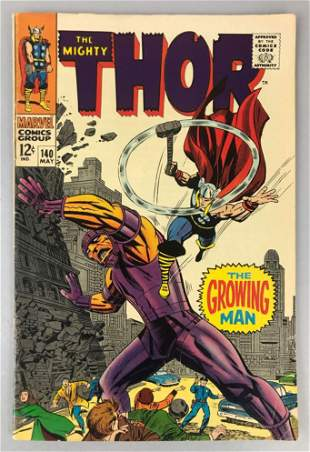 Marvel Comics Thor no. 140 comic book