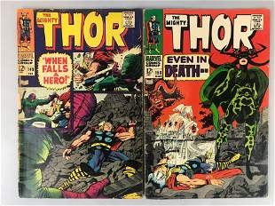 Marvel Comics Thor no. 149 and 150 comic books