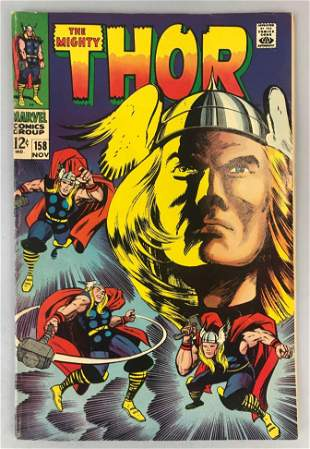 Marvel Comics Thor no. 158 comic book