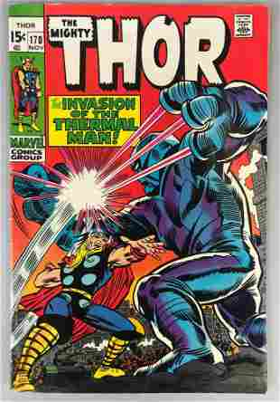 Marvel Comics Thor no. 170 comic book