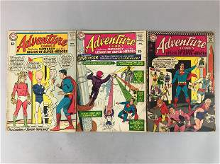 DC Comics Adventure Comics no. 324, 335, 352 comic