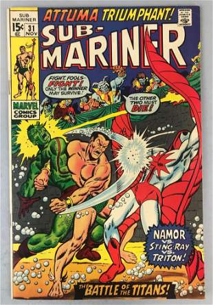 Marvel Comics Sub-Mariner No. 31 Comic Book