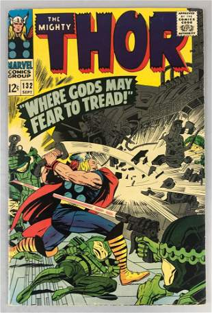 Marvel Comics The Mighty Thor No. 132 Comic Book