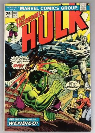 Marvel Comics The Incredible Hulk No. 180 Comic Book