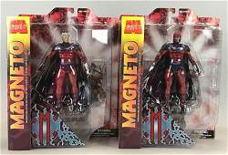 Group of 2 Marvel Select Magneto action figures