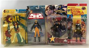 Group of 4 assorted DC Comics action figures