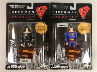 Group of 2 DC Direct Superman Doomsday action figures