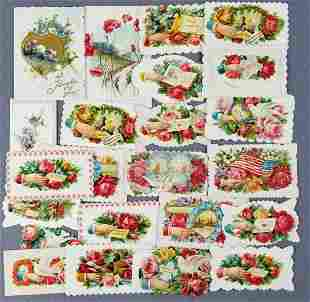Group of antique calling cards and more