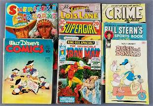 Group of 8 vintage comic books, coloring books