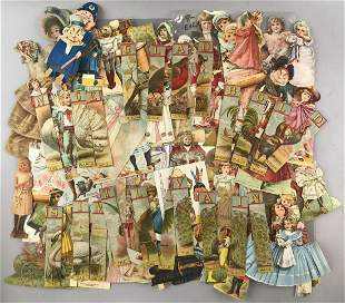 Group of 80+ vintage Paper Dolls, advertising and more