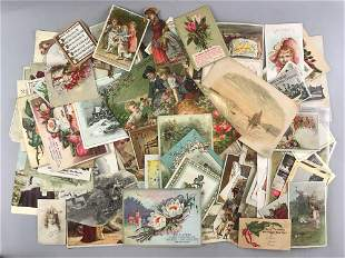 Group of appx 100 pieces of assorted Victorian Scrap