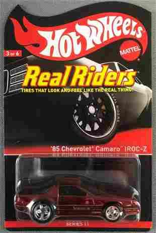Hot Wheels Real Riders 85 Chevy Camaro IROC-Z