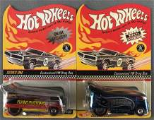 Group of 2 Hot Wheels Customized VW Drag Bus
