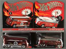 Group of 2 Hot Wheels Red Line Club Customized VW Drag