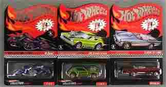 Group of 3 Hot Wheels Red Line Club die-cast vehicles