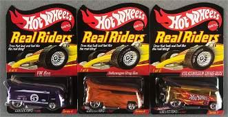 Group of 3 Hot Wheels Real Riders die-cast vehicles