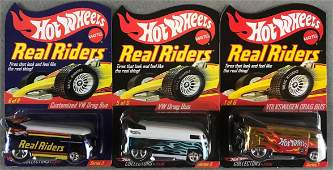 Group of 3 Hot Wheels Real Riders die-cast vehicles